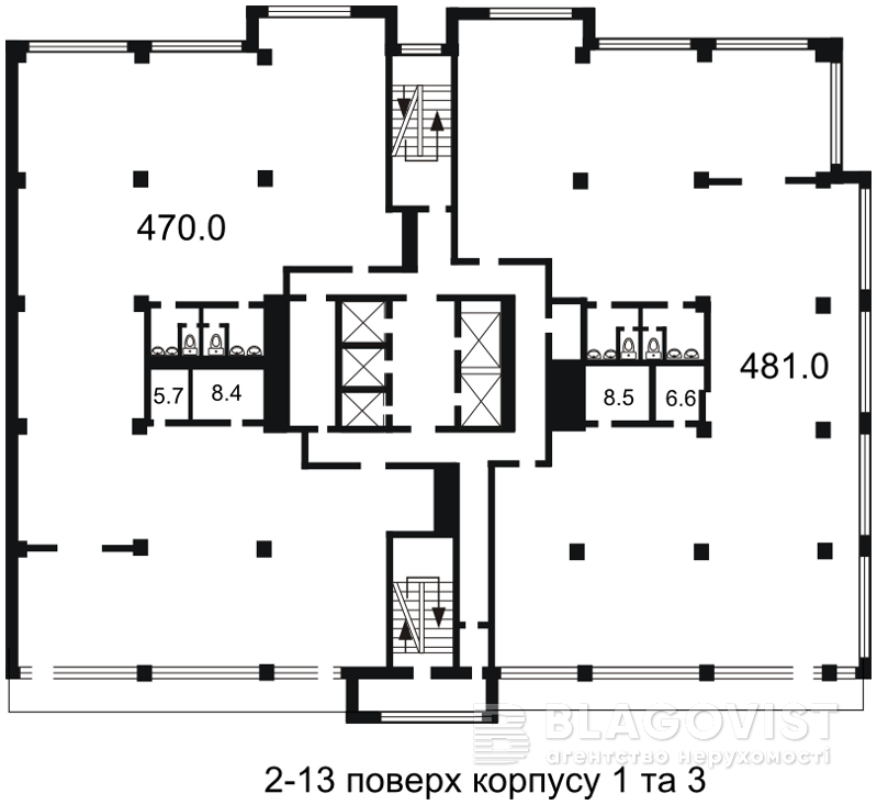 Офис, H-26869, Гавела Вацлава бульв. (Лепсе Ивана), Киев - Фото 5