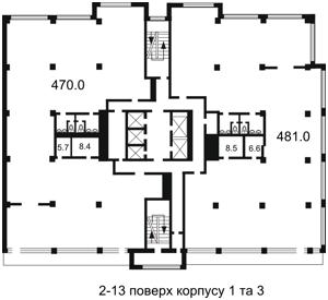 Офис, H-26867, Гавела Вацлава бульв. (Лепсе Ивана), Киев - Фото 8