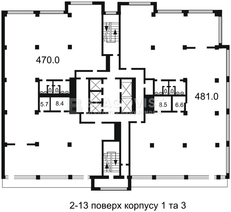 Офис, H-26862, Гавела Вацлава бульв. (Лепсе Ивана), Киев - Фото 5