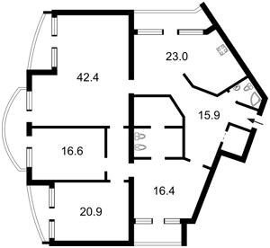 Квартира Дмитриевская, 48г, Киев, J-5086 - Фото2
