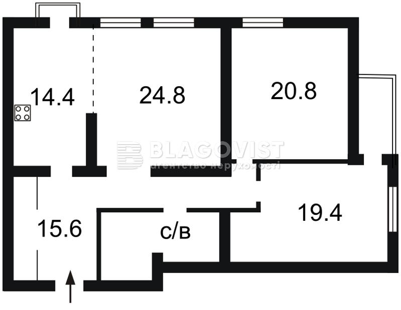 Квартира F-27793, Голосеевский проспект (40-летия Октября просп.), 27, Киев - Фото 5