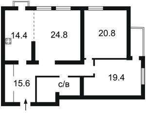 Квартира Голосеевский проспект (40-летия Октября просп.), 27, Киев, F-27793 - Фото2