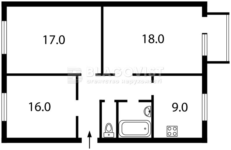 Квартира Z-1062954, Рогозовская, 1, Киев - Фото 4