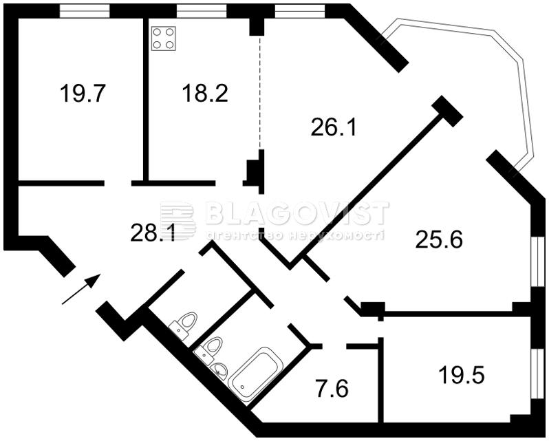 Квартира H-17339, Окипной Раиcы, 4а, Киев - Фото 4