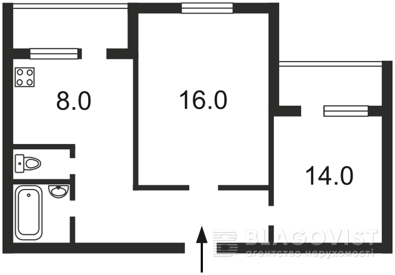 Квартира Z-1140051, Бальзака Оноре де, 91/29, Киев - Фото 2
