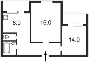 Квартира Бальзака Оноре де, 91/29, Киев, Z-1140051 - Фото 2