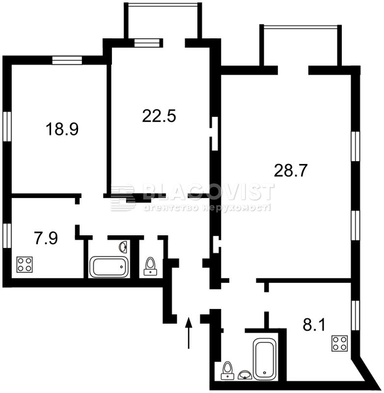Квартира Z-1162613, Саксаганского, 131а, Киев - Фото 3