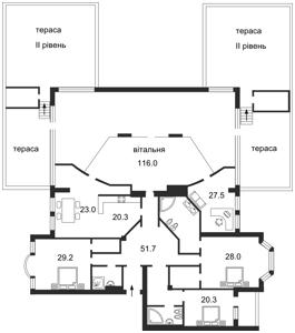 Квартира Грушевского Михаила, 9а, Киев, H-12557 - Фото 2