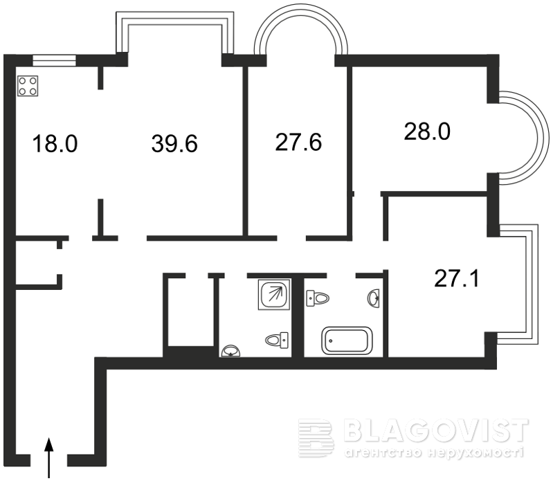 Квартира D-24499, Институтская, 18а, Киев - Фото 4