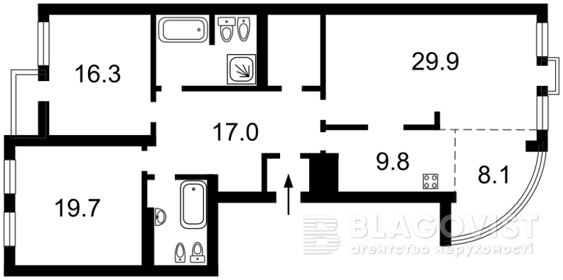 Квартира Z-1177875, Панаса Мирного, 15, Киев - Фото 3