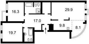 Квартира Панаса Мирного, 15, Київ, Z-1177875 - Фото2