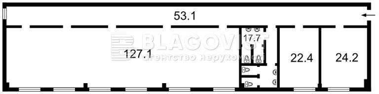 Офіс, B-86386, М.Лагуновой, Княжичі (Броварський) - Фото 1