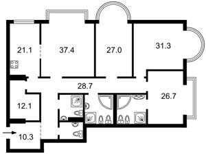 Apartment Instytutska, 18а, Kyiv, M-21005 - Photo2