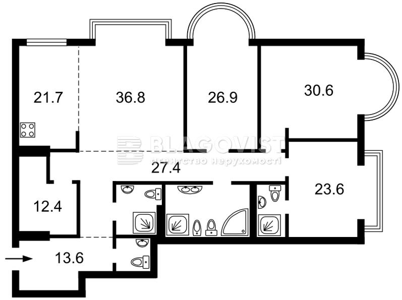 Квартира M-21006, Институтская, 18а, Киев - Фото 4