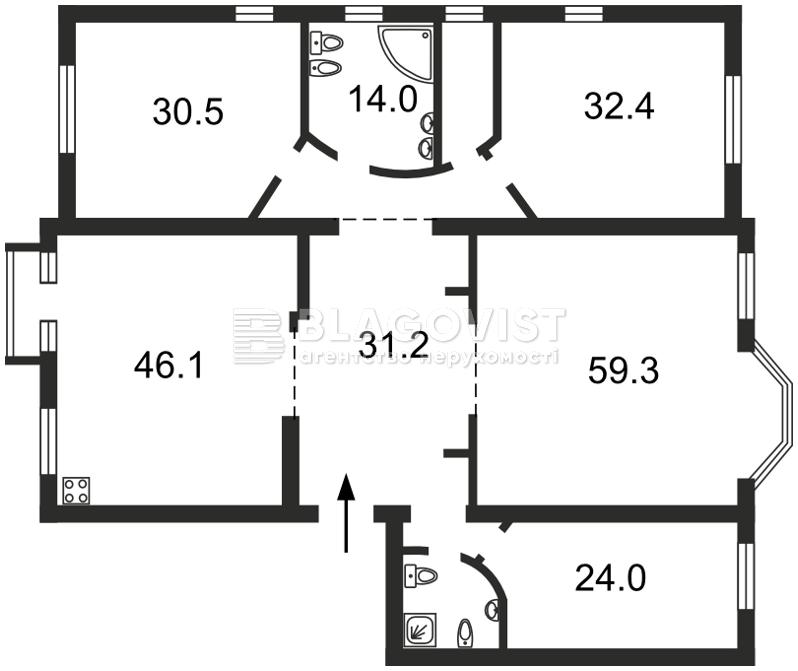 Квартира O-18329, Ірининська, 5/24, Київ - Фото 5