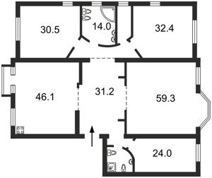 Квартира Ирининская, 5/24, Киев, O-18329 - Фото2