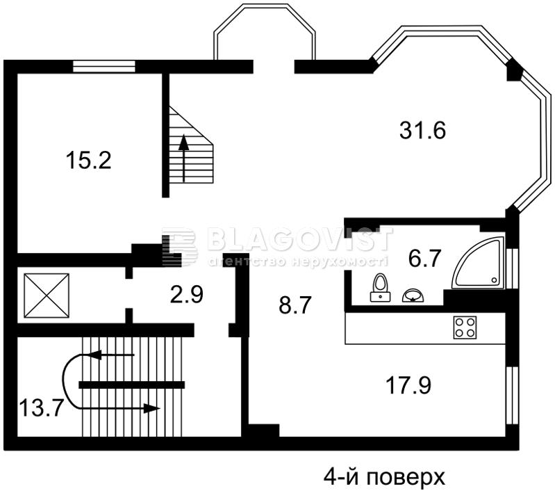 Будинок, E-30514, Локомотивна, Київ - Фото 4