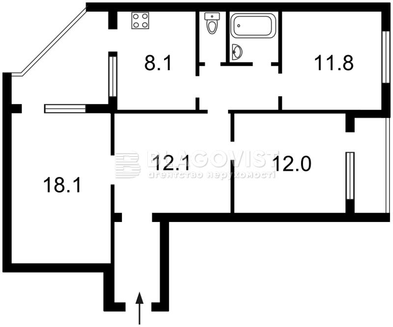 Квартира X-14456, Щербаковского Даниила (Щербакова), 63б, Киев - Фото 5