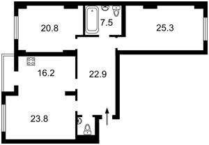 Квартира Окіпної Раїси, 4а, Київ, Z-1223411 - Фото2