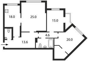 Квартира Княжий Затон, 21, Киев, Z-1009173 - Фото2