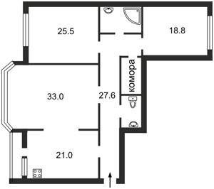 Квартира Коновальца Евгения (Щорса), 32б, Киев, Z-1248113 - Фото2