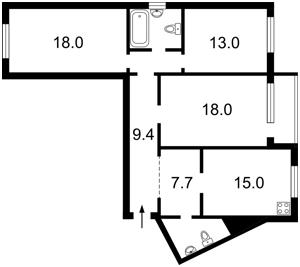 Квартира Правды просп., 5б, Киев, Z-1220742 - Фото2