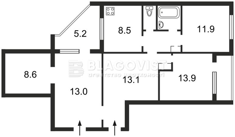 Квартира Z-1241523, Декабристов, 8, Киев - Фото 5