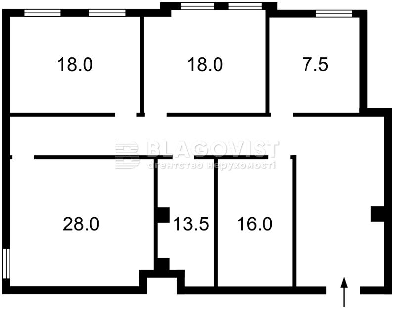 Офис, M-22369, Хмельницкого Богдана, Киев - Фото 3