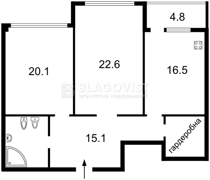 Квартира E-30992, Драгомирова Михаила, 12, Киев - Фото 6