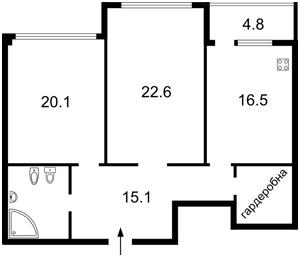 Квартира Драгомирова Михаила, 12, Киев, E-30992 - Фото2