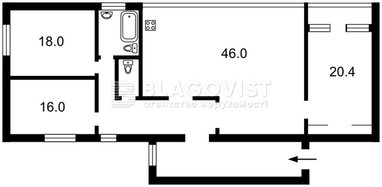 Квартира X-4557, Емельяновича-Павленко Михаила (Суворова), 13, Киев - Фото 5