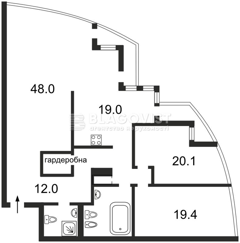 Квартира Z-1263135, Хмельницкого Богдана, 41, Киев - Фото 3