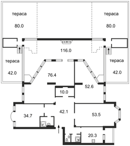 Квартира Грушевского Михаила, 9а, Киев, A-91660 - Фото 2