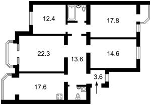 Квартира Конєва Маршала, 9, Київ, Z-1271284 - Фото2