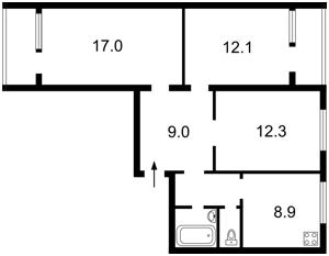 Apartment Raiduzhna, 63, Kyiv, Z-1173123 - Photo2