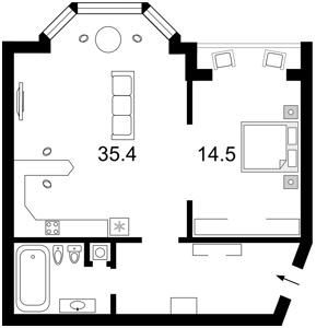 Квартира F-24777, Коновальця Євгена (Щорса), 32б, Київ - Фото 5
