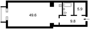 Квартира Мічуріна, 56/2, Київ, D-25857 - Фото2