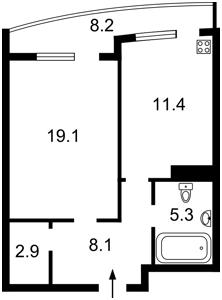 Квартира Сикорского Игоря (Танковая), 1, Киев, Z-1289112 - Фото2