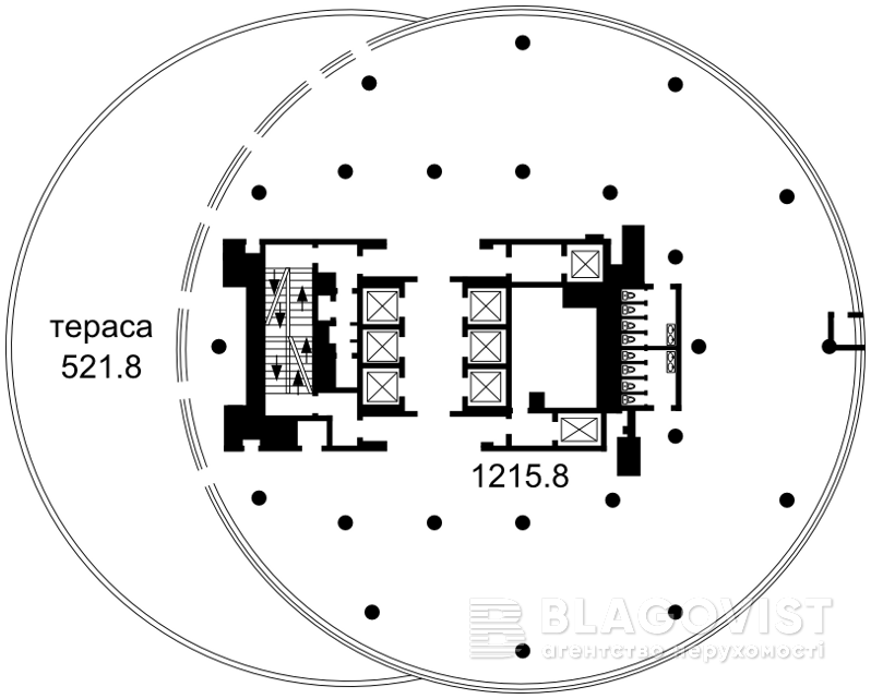 Офис, Болсуновская (Струтинского Сергея), Киев, P-9866 - Фото 2