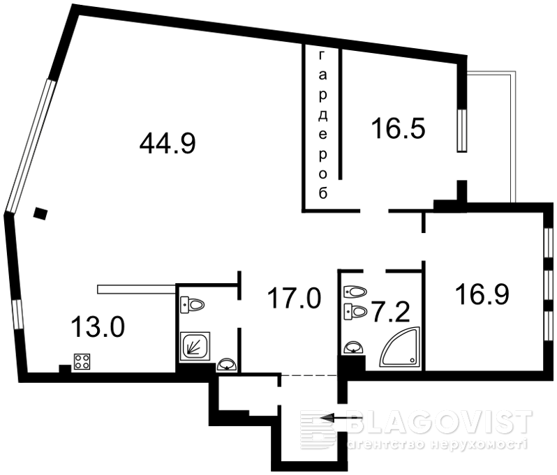 Квартира P-9079, Бутышев пер. (Иванова Андрея), 13, Киев - Фото 4