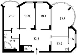 Квартира Тимошенко Маршала, 21 корпус 2, Киев, Z-1313411 - Фото2