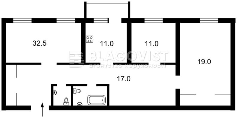 Квартира E-13012, Коновальца Евгения (Щорса), 32б, Киев - Фото 5
