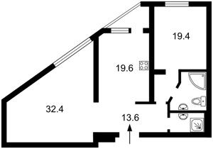 Квартира Чорновола Вячеслава, 2, Київ, Z-1332705 - Фото2