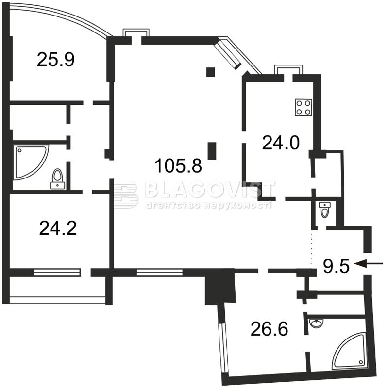Квартира H-30621, Бульварно-Кудрявська (Воровського), 36, Київ - Фото 5
