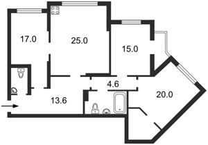 Квартира Княжий Затон, 21, Київ, Z-1328881 - Фото2