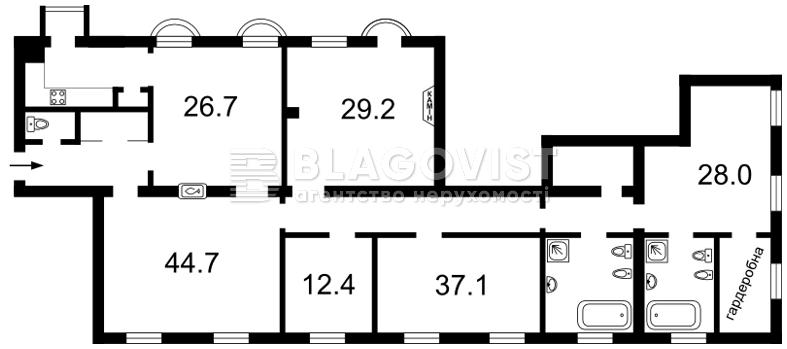 Квартира A-104338, Банковая, 1/10, Киев - Фото 4