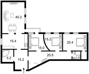 Квартира Городецького Архітектора, 11б, Київ, F-6713 - Фото2