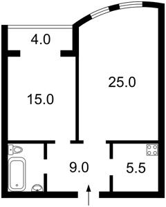 Квартира Голосеевская, 13а, Киев, Z-1379772 - Фото2