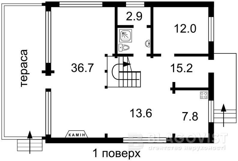 Дом F-25960, Буча (город) - Фото 2