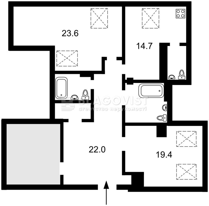 Квартира C-94398, Дяченка, 20б, Київ - Фото 6